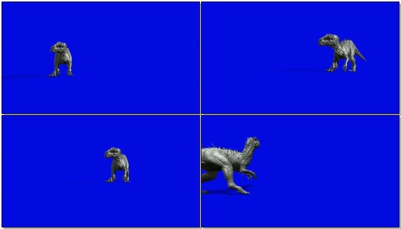 蓝屏抠像咆哮的侏罗纪恐龙.jpg