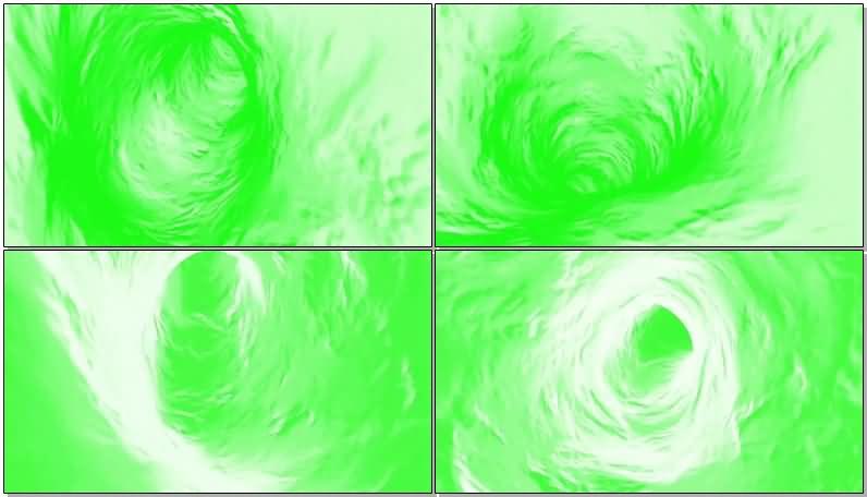 绿屏抠像水中漩涡视频素材