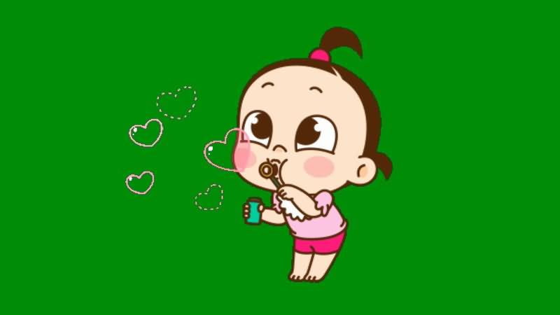 绿屏抠像吹泡泡的女孩.jpg