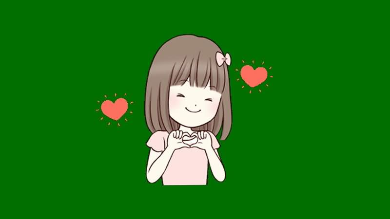 绿屏抠像示爱的小女孩.jpg