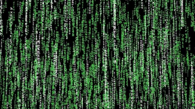 [4K]黑客帝国数字雨视频素材