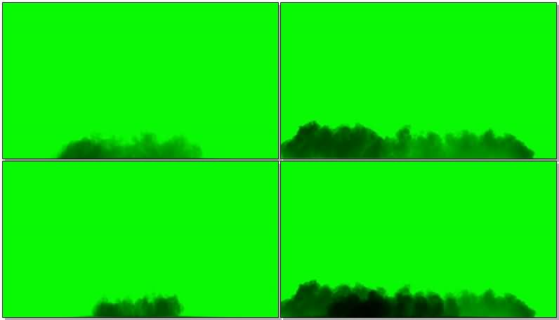 [4K]绿屏抠像黑色烟雾视频素材