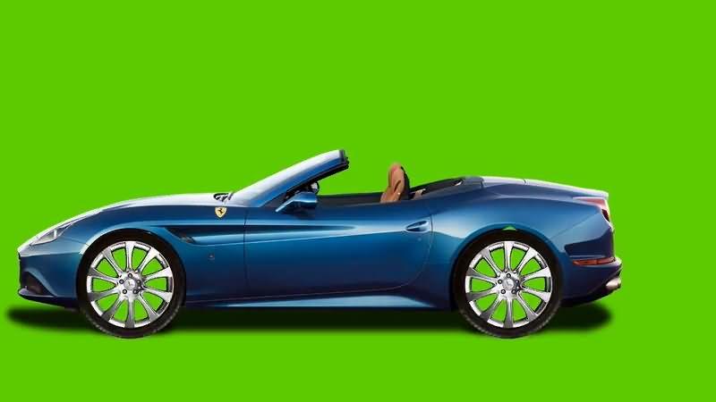 绿屏抠像行驶的蓝色轿车.jpg