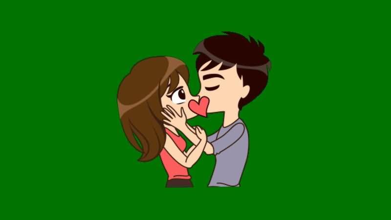绿屏抠像接吻的男女情侣.jpg