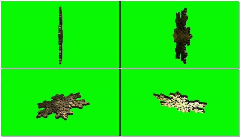 [4K]绿屏抠像旋转的黄金雪花片.jpg