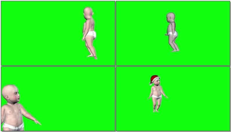 绿屏抠像带尿布的婴儿.jpg