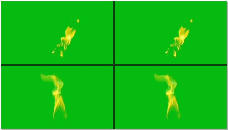 绿屏抠像燃烧的火苗视频素材