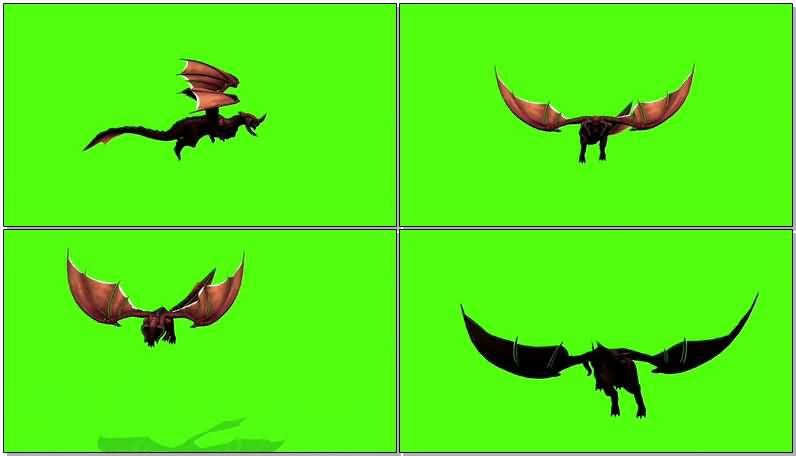 绿屏抠像飞翔的巨龙怪兽.jpg