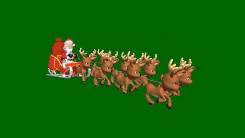绿屏抠像坐麋鹿的圣诞老人.jpg