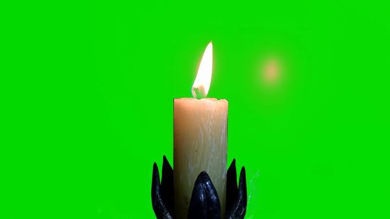 [4K]绿屏抠像燃烧的白色蜡烛.jpg