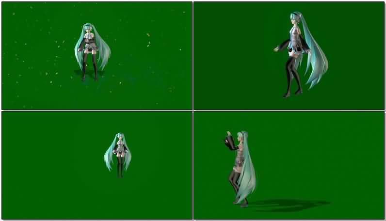 绿屏抠像唱歌跳舞的卡通女孩.jpg