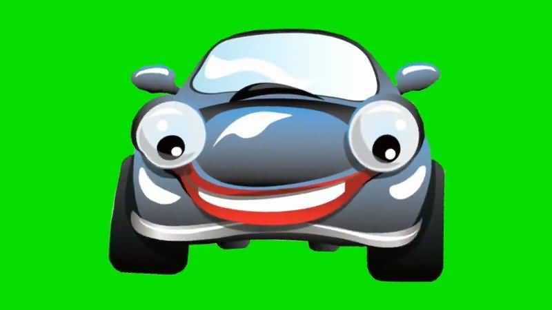 绿屏抠像卡通大眼睛轿车.jpg
