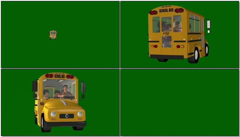 绿屏抠像行驶中的校车.jpg