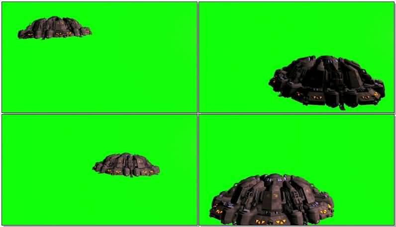绿屏抠像大型UFO外星飞碟.jpg