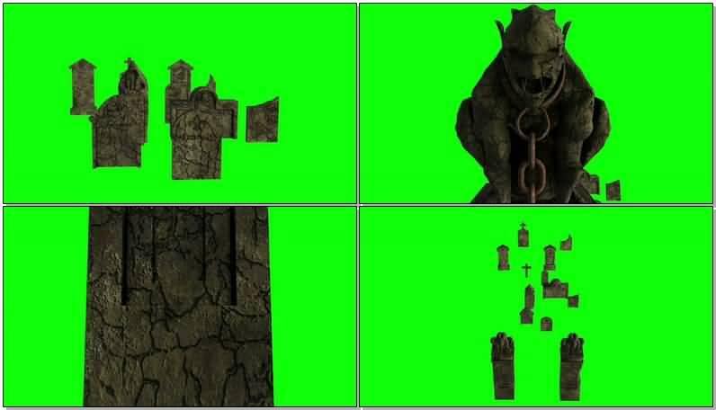 [4K]绿屏抠像墓地墓碑.jpg