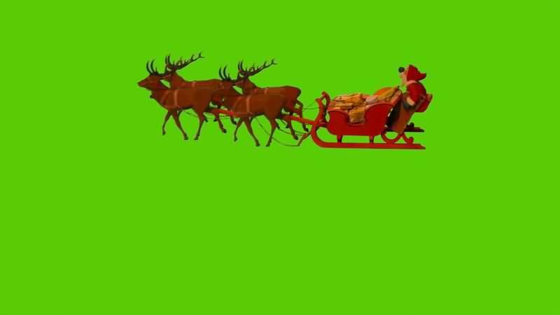[4K]绿屏抠像圣诞老人雪橇车.jpg
