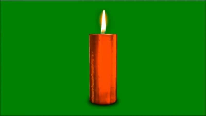 绿屏抠像燃烧的红色蜡烛.jpg
