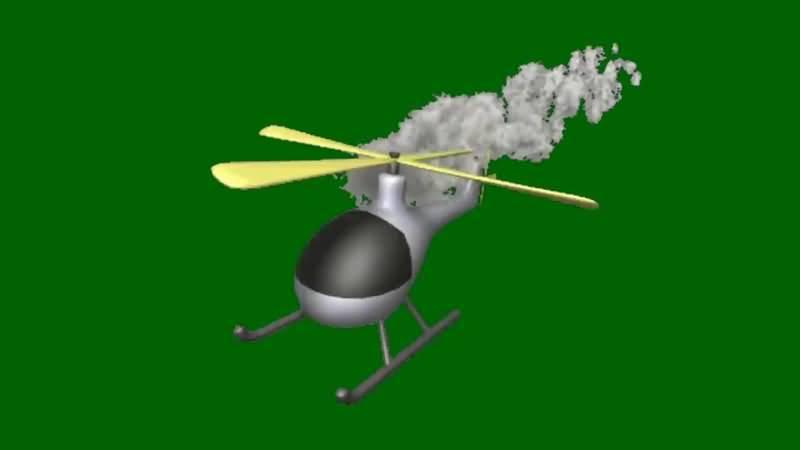 绿屏抠像冒烟的直升飞机.jpg