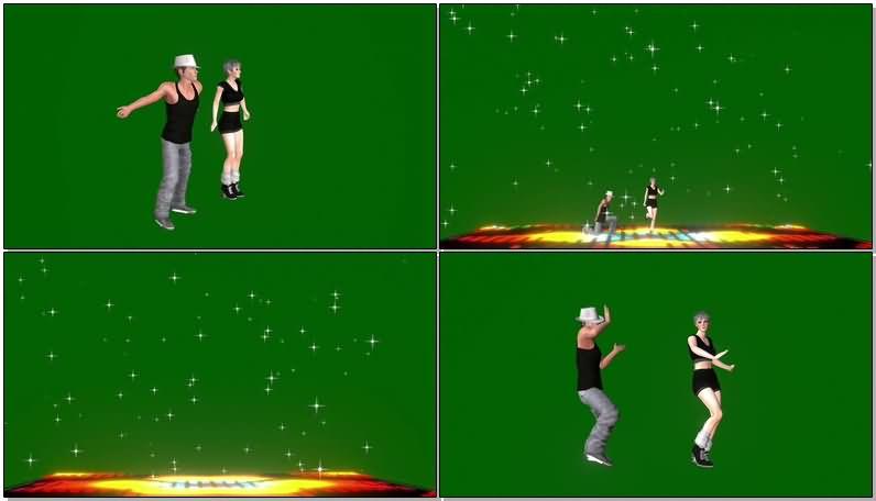绿屏抠像跳街舞的男女舞者.jpg
