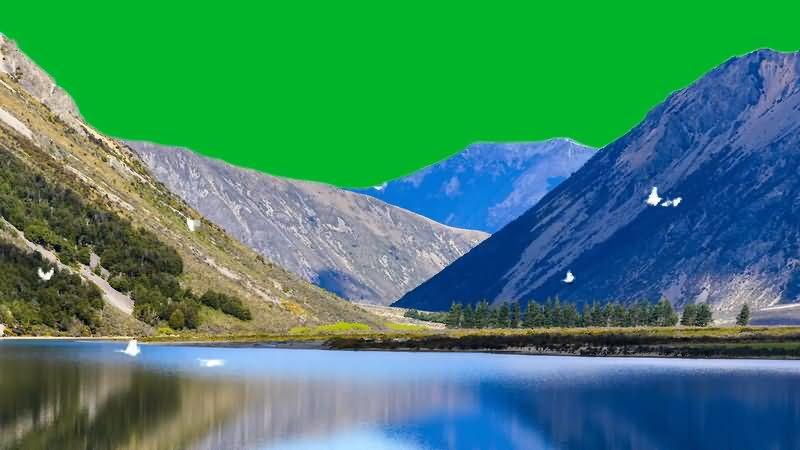 绿屏抠像雪山湖泊飞鸟.jpg