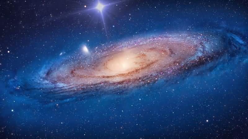 旋转的宇宙星云漩涡视频素材