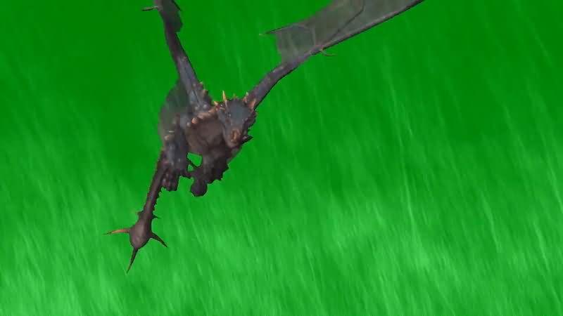 绿屏抠像飞翔的龙视频素材