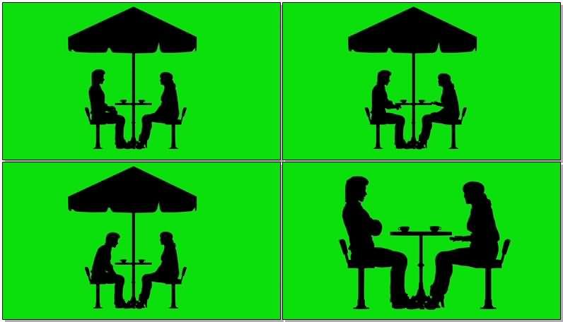 绿屏抠像就餐谈话情侣剪影.jpg