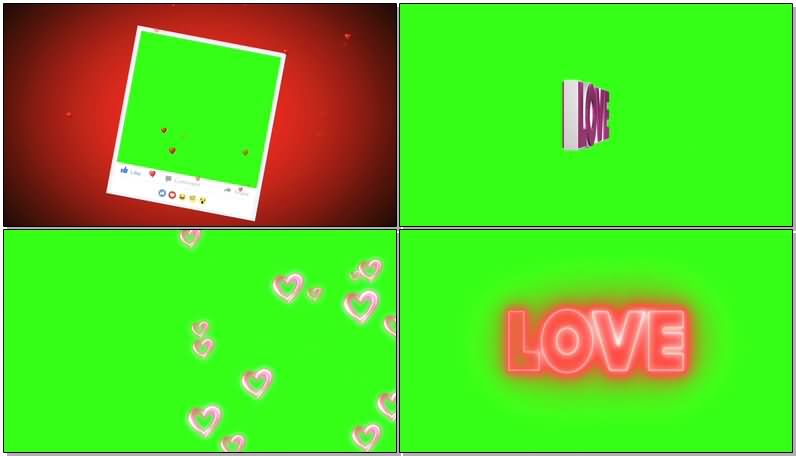 绿屏抠像爱心礼盒视频素材