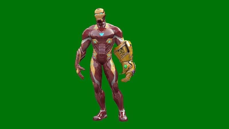 绿屏抠像带无限手套的钢铁侠.jpg