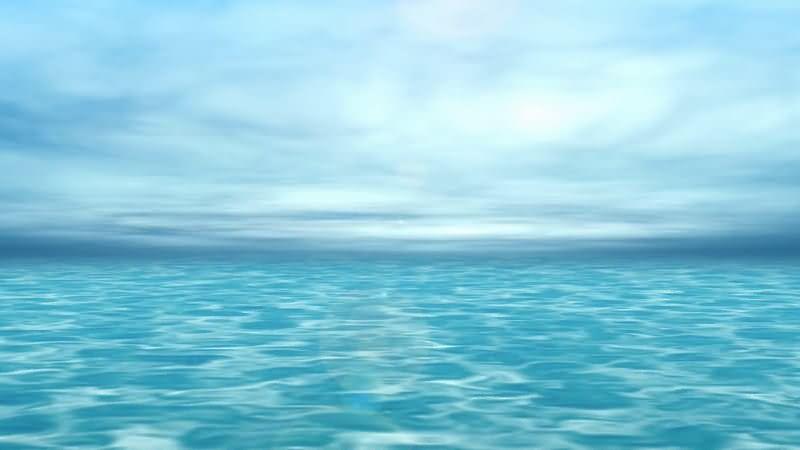 大海蓝天相连风景视频素材