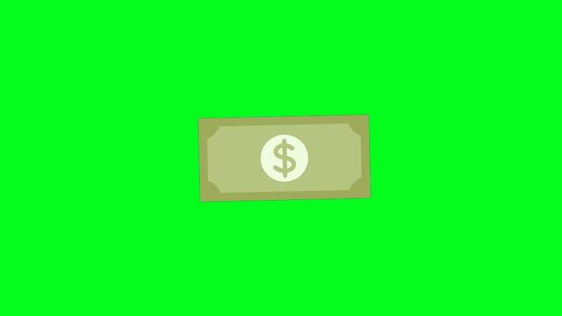 绿屏抠像卡通美元钞票.jpg