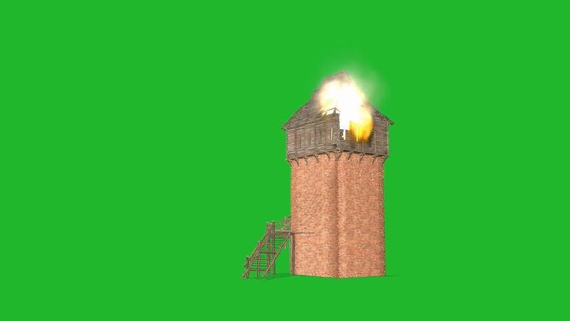 绿屏抠像着火的塔楼.jpg