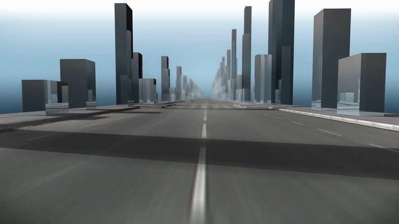 第一视角公路行驶视频素材