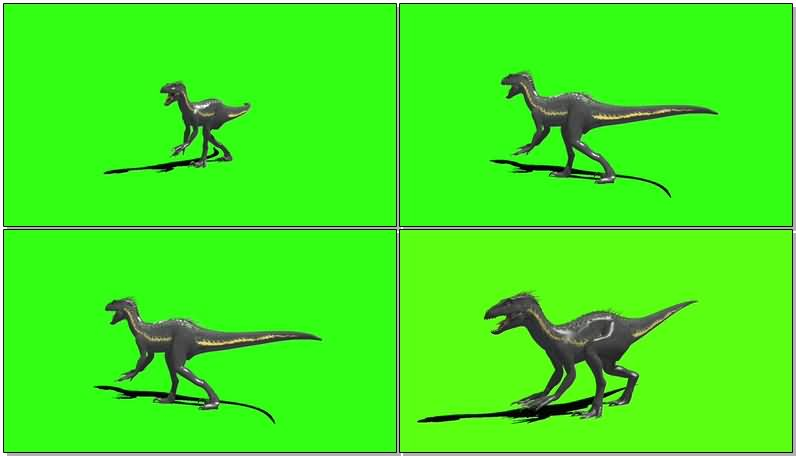 绿屏抠像侏罗纪世界变异恐龙视频素材