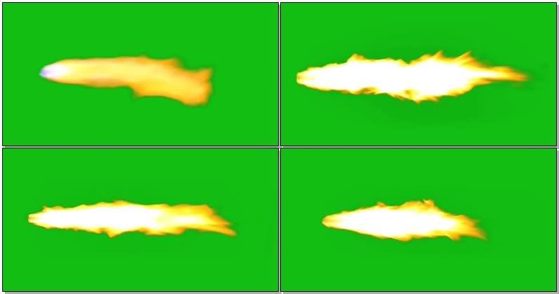 绿屏抠像火箭尾部火焰视频素材