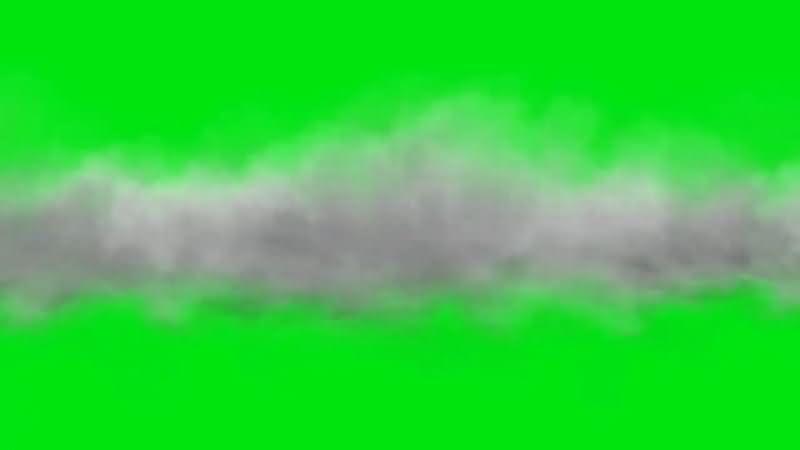 绿屏抠像白云雾气视频素材