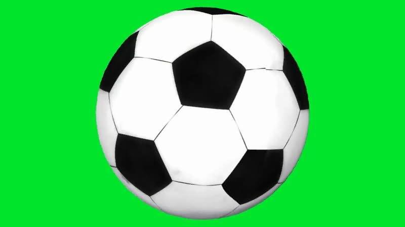 绿屏抠像旋转的足球视频素材