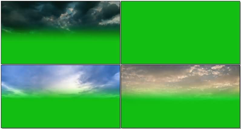 绿屏抠像各种云层视频素材