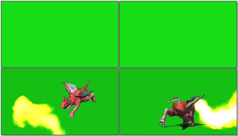 绿屏抠像粉色喷火龙.jpg
