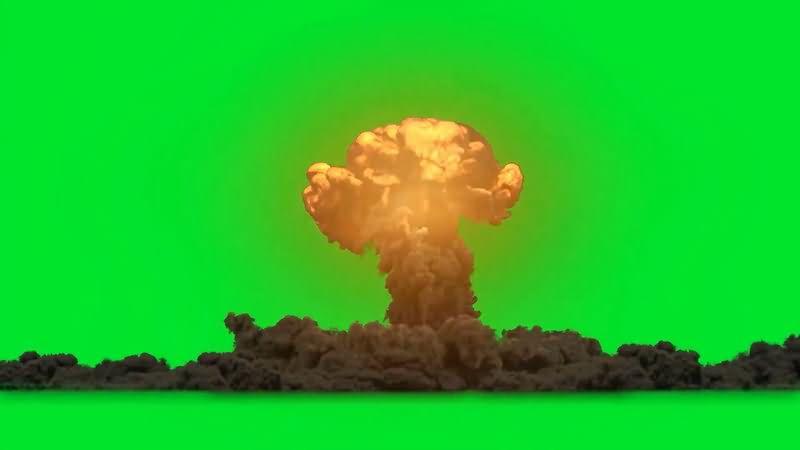 绿屏抠像带声效各类爆炸效果视频素材