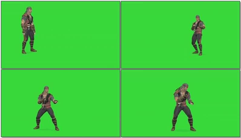 绿屏抠像战斗的忍者武士.jpg