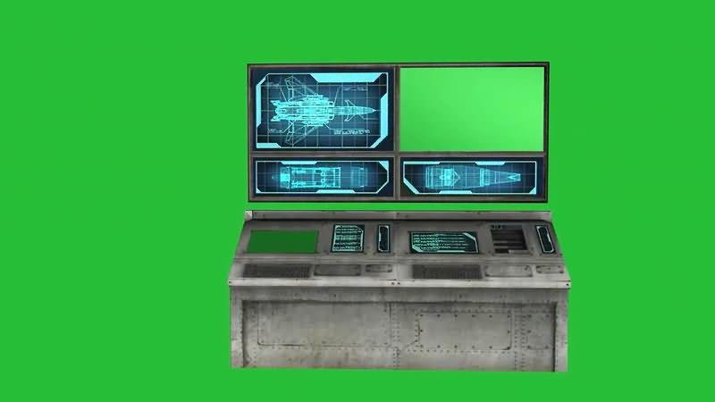 绿屏抠像多窗口操作台.jpg