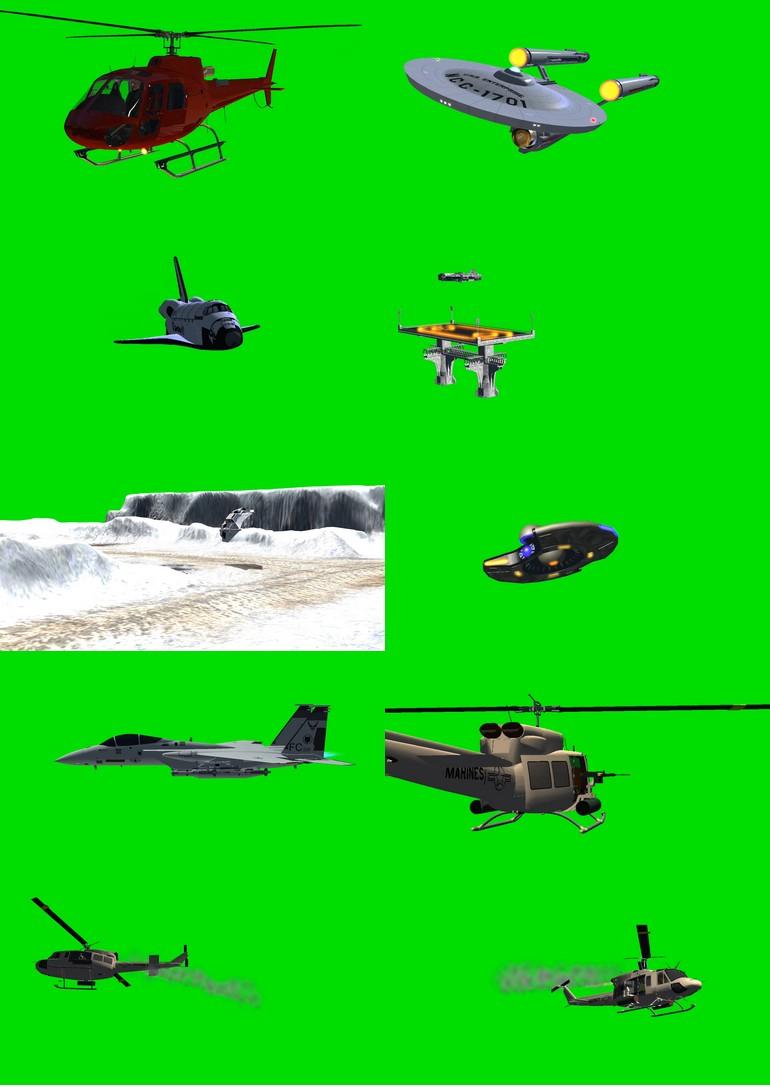 绿幕抠像飞机视频素材打包1.jpg