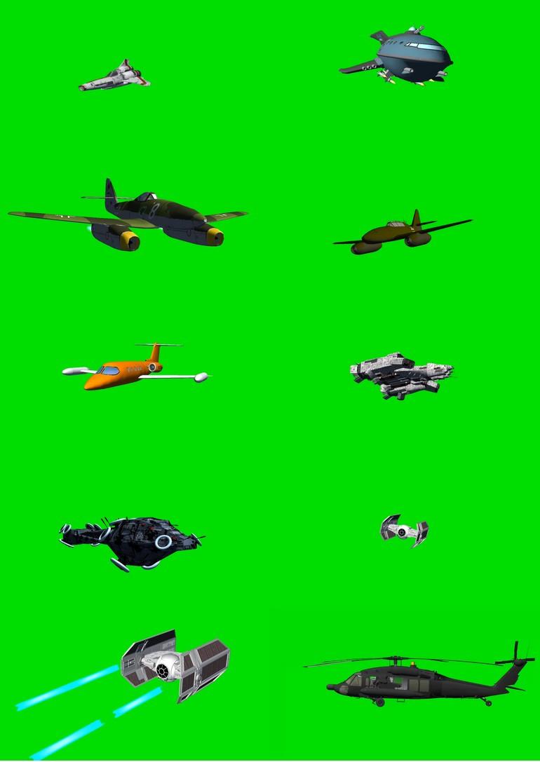 绿幕抠像飞机视频素材打包3.jpg