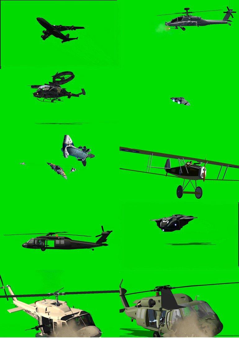 绿幕抠像飞机视频素材打包4.jpg