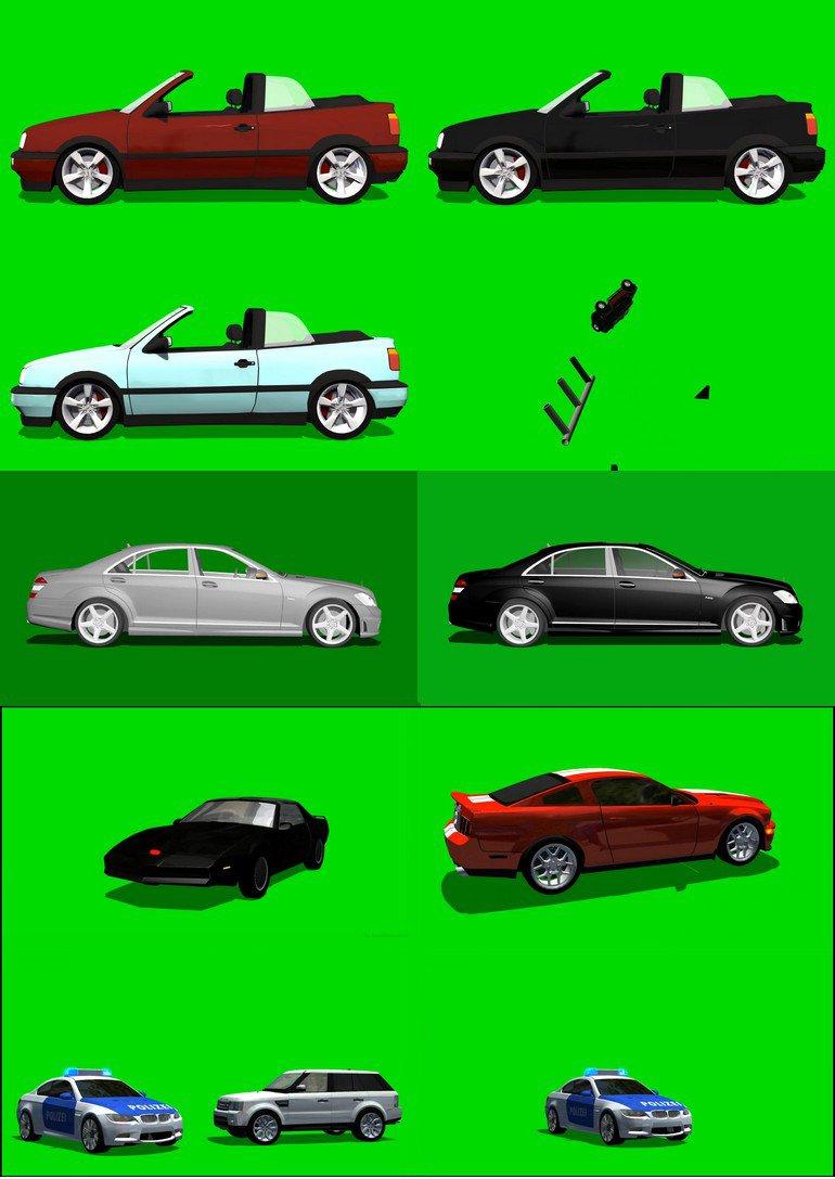 绿屏_绿布_绿幕汽车轿车|卡车|战车|坦克|变形金刚|各种车辆视频素材打包100部第一套