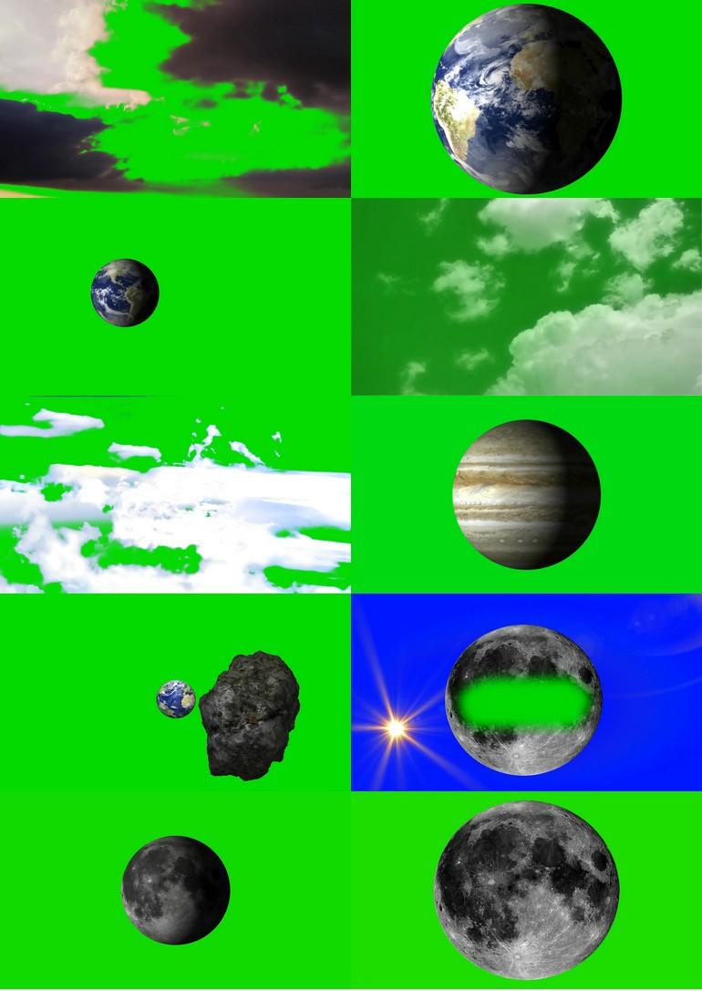 绿屏_绿布_绿幕自然风景|下雨|下雪|白云|闪电|宇宙|星球视频素材打包100部第二套