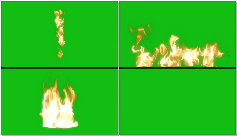 绿屏抠像各种火焰火苗视频素材