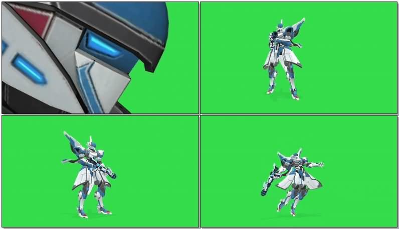 绿屏抠像战斗的机甲机器人.jpg