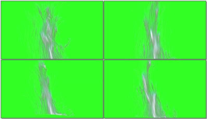 绿屏抠像增长的粒子线条视频素材